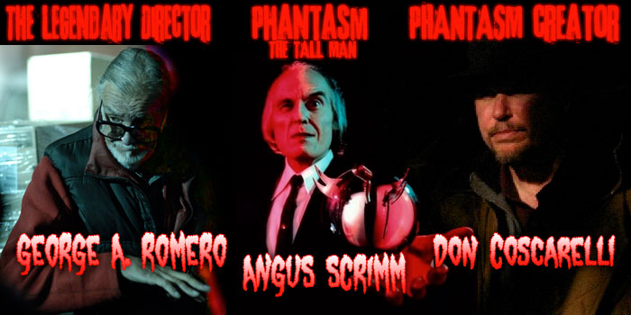 George Romero, Don Coscarelli and Angus Scrimm