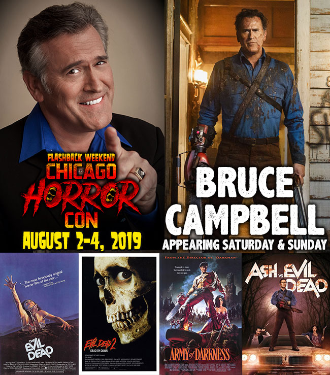Celebrity Guests at Flashback Weekend Chicago Horror Convention