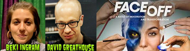 "From SyFy's FACE OFF: Special Effects Makeup Artists Beki Ingram and David ""House"" Greathouse"