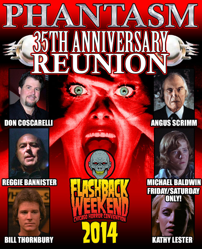 Phantasm 35th Anniversary Reunion: Don Coscarelli, Angus Scrimm, Reggie Bannister, Michael Baldwin, Bill Thornbury & Kat Lester